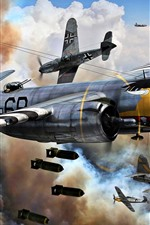Preview iPhone wallpaper Air Force, bomber, war, art picture