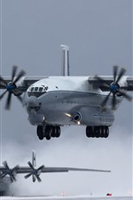 Preview iPhone wallpaper An-22 transport aircraft, landing