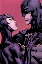 Preview iPhone wallpaper Batman and Catwoman, DC comics heroes