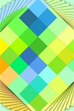 Preview iPhone wallpaper Colorful cards, layers, creative design