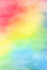 Preview iPhone wallpaper Colorful colors, watercolors, abstract picture