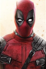 Preview iPhone wallpaper Deadpool, hero, Marvel