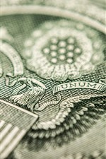 Preview iPhone wallpaper Dollar, currency macro photography, eagle pattern