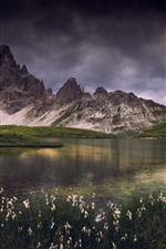 Preview iPhone wallpaper Dolomites, mountains, lake