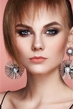 Preview iPhone wallpaper Fashion girl, hairstyle, decoration