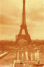 Preview iPhone wallpaper France, Eiffel Tower, old photo