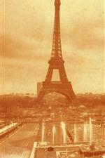 França, Torre Eiffel, foto antiga