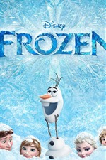 Preview iPhone wallpaper Frozen, thick snow, Cartoon movie