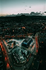 Germany, Baden-Wurttemberg, city, top view, night
