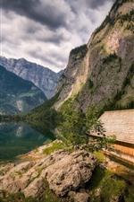 Alemanha, bavaria, montanhas, lago, casa