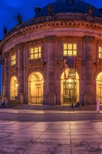 Preview iPhone wallpaper Germany, Berlin, Bode-Museum, night, lights