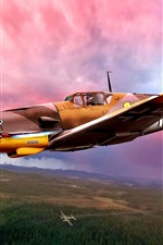 Preview iPhone wallpaper Germany, WWII, plane, art picture