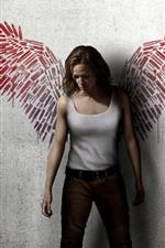 Girl, wings, wall, creative photography