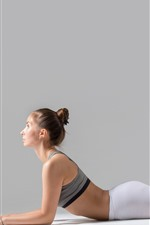Preview iPhone wallpaper Girl, yoga, pose, fitness