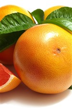 Preview iPhone wallpaper Grapefruit, white background