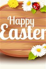 Feliz Páscoa, ovos, flores, primavera, imagens de arte