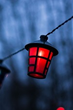 Preview iPhone wallpaper Lamp, hazy, dusk