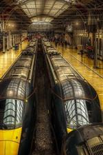 Londres, inglaterra, paddington, estação, trens, corredor