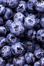 Preview iPhone wallpaper Many blueberries, berries, fruit