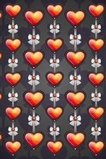 Muitos corações de amor, arcos, textura de fundo