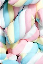 Muitos marshmallows, doces