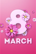 8 de março, flores, imagem criativa
