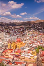 Mexico, city, houses, mountains, street
