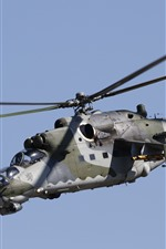 Preview iPhone wallpaper Mi-35 helicopter