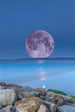 Moon, sea, creative picture