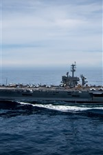Preview iPhone wallpaper Navy, aircraft carrier, sea
