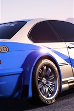 Preview iPhone wallpaper Need For Speed, BMW sports car back view