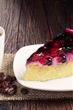 미리보기 iPhone 배경 화면 케이크, 커피, 원두 커피 한 조각