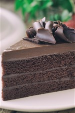 Preview iPhone wallpaper One slice of chocolate cake, food, dessert