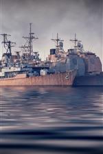 Preview iPhone wallpaper Ship, sea, fog