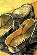 Sapatos, pintura a óleo, Vincent van Gogh