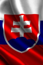 Preview iPhone wallpaper Slovakia flag