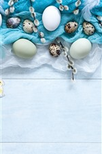 Preview iPhone wallpaper Some eggs, feathers, Easter
