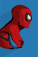 Preview iPhone wallpaper Spider-man, anime, blue background