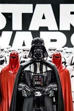 Preview iPhone wallpaper Star Wars, Darth Vader, soldiers