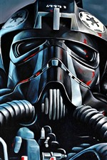 Preview iPhone wallpaper Star Wars, art picture, pilot