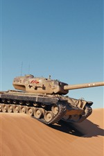 iPhone壁紙のプレビュー タンク、砂漠