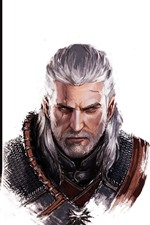 Preview iPhone wallpaper The Witcher, characters