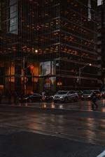 Toronto, Canada, skyscrapers, night, people