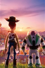 Preview iPhone wallpaper Toy Story 4, back view