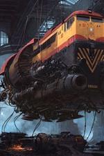 Preview iPhone wallpaper Trains, future, sci-fi, art picture