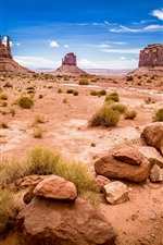USA, Monument Valley National Park, rocks, nature landscape