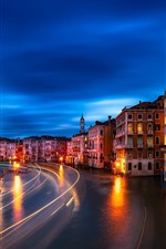 Preview iPhone wallpaper Venice, Veneto, city, night, houses, lights, river