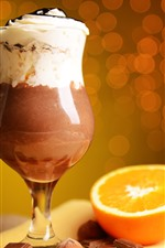 Preview iPhone wallpaper Cocktail, chocolate, orange, circles