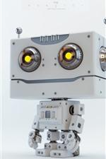 Preview iPhone wallpaper Cute robot, creative design