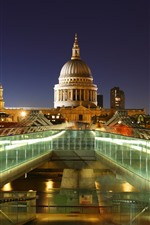 Preview iPhone wallpaper England, London, church, lights, night